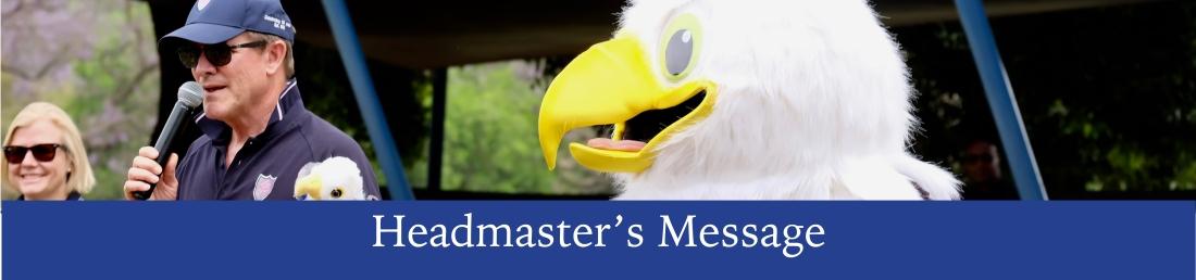 headmaster's message banner