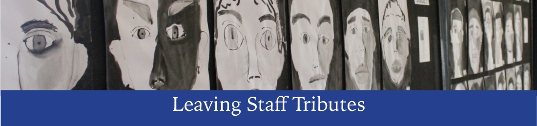 leaving staff tributes banner