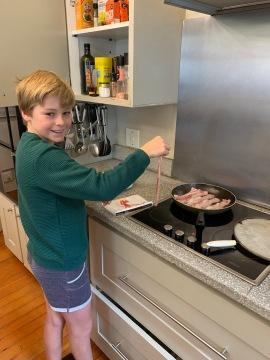 Josh SS making breakfast